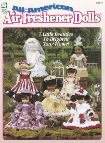 All-American-Air-Freshener-Dolls-Crochet-Doll-Clothes-Pattern-Booklet-HWB-101070 #airfreshnerdolls