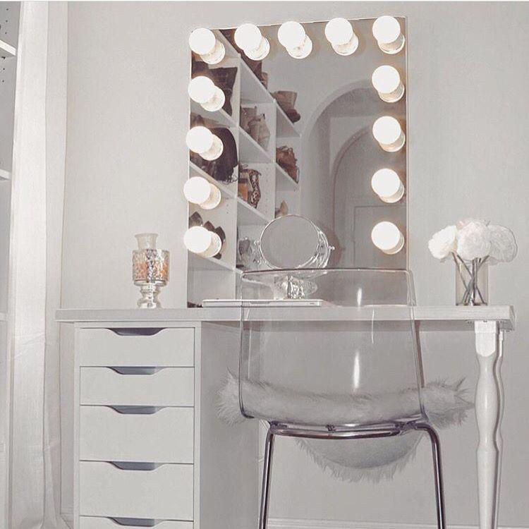 Lighted Vanity Makeup Mirrors Bedroom Vanity Bedroom Design Room Decor