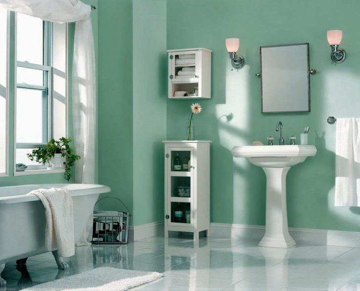 Ba o aguamarina berilo interiores verdes pinterest for Pintura verde aguamarina
