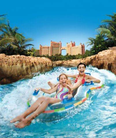 Where my sisters and I spend our time when we visited Atlantis. I think one day we spent the entire day going around this crazy lazy river.