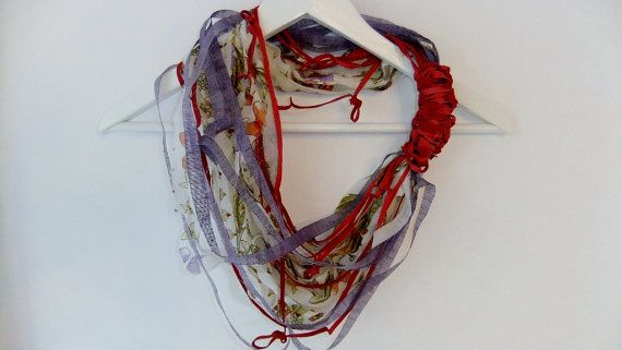 Hey, I found this really awesome Etsy listing at http://www.etsy.com/listing/110066748/tattered-scarf-necklace-feat-grenadine