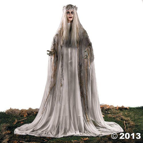 Lifesize Haunting Bewitching Beauty Gruesome Standing Ghost Girl - life size halloween decorations