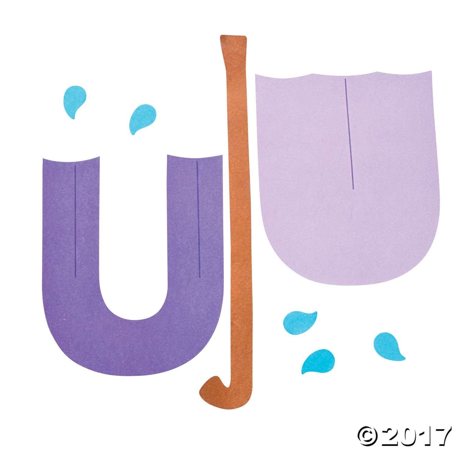 U Is For Umbrellas Letter U Craft Kit Use Your Own