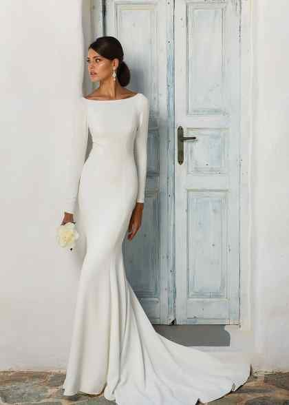 Photo of Tulle Long Sleeve Wedding Dress, A-line Wedding Dress – Site Today