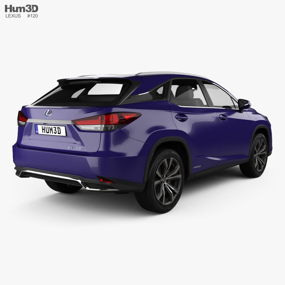 Lexus Rx Hybrid 2020 3d Model In 2020 Lexus Car 3d Model 3d Model