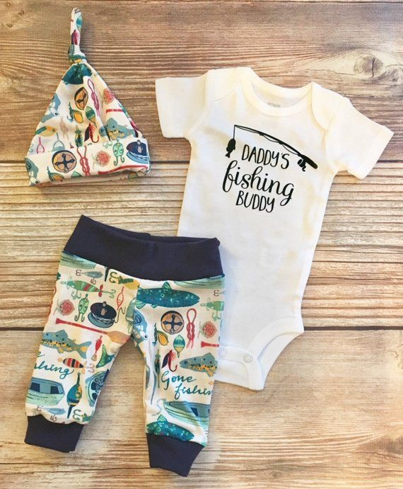 Photo of Daddy's Fishing Buddy Newborn outfit, Fishing, Hunting, Baby Fishing Outfit, Coming Home Outfit, Going Home Outfit, Baby fisherman
