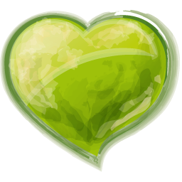 Glossy Green Heart Icon Png Clipart Image Heart Icons Free Icon Set Clip Art