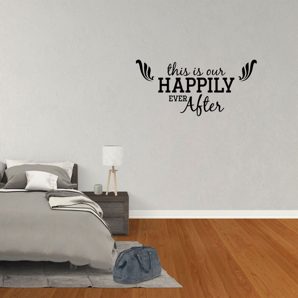 Wall Decal Quote This Is Our Happilyeverafter Vinyl Sticker Decor