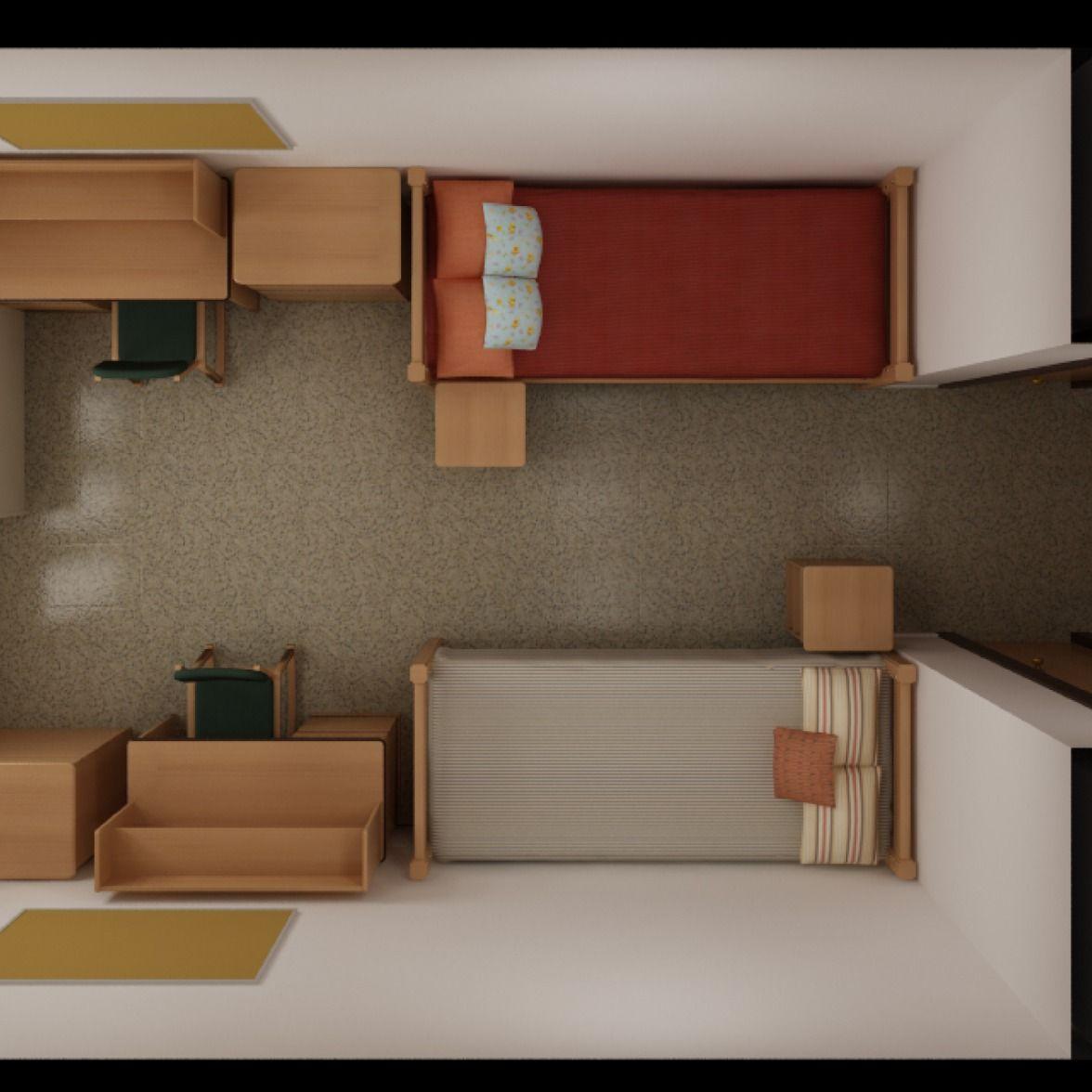 Texas State Laurel Hall Floor Plan Bedroom Size 10 X 13 Window Size 73 X 63 Extra Long Twin Beautiful Dorm Room Dorm Room Layouts Texas State Dorm