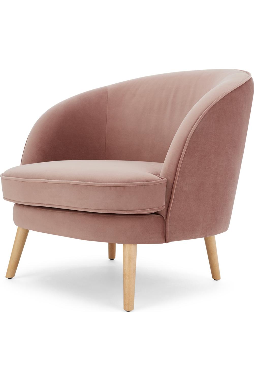 Made Com Fauteuils Accent Rose Wohnzimmer Sessel Armlehnen Vintage Sessel