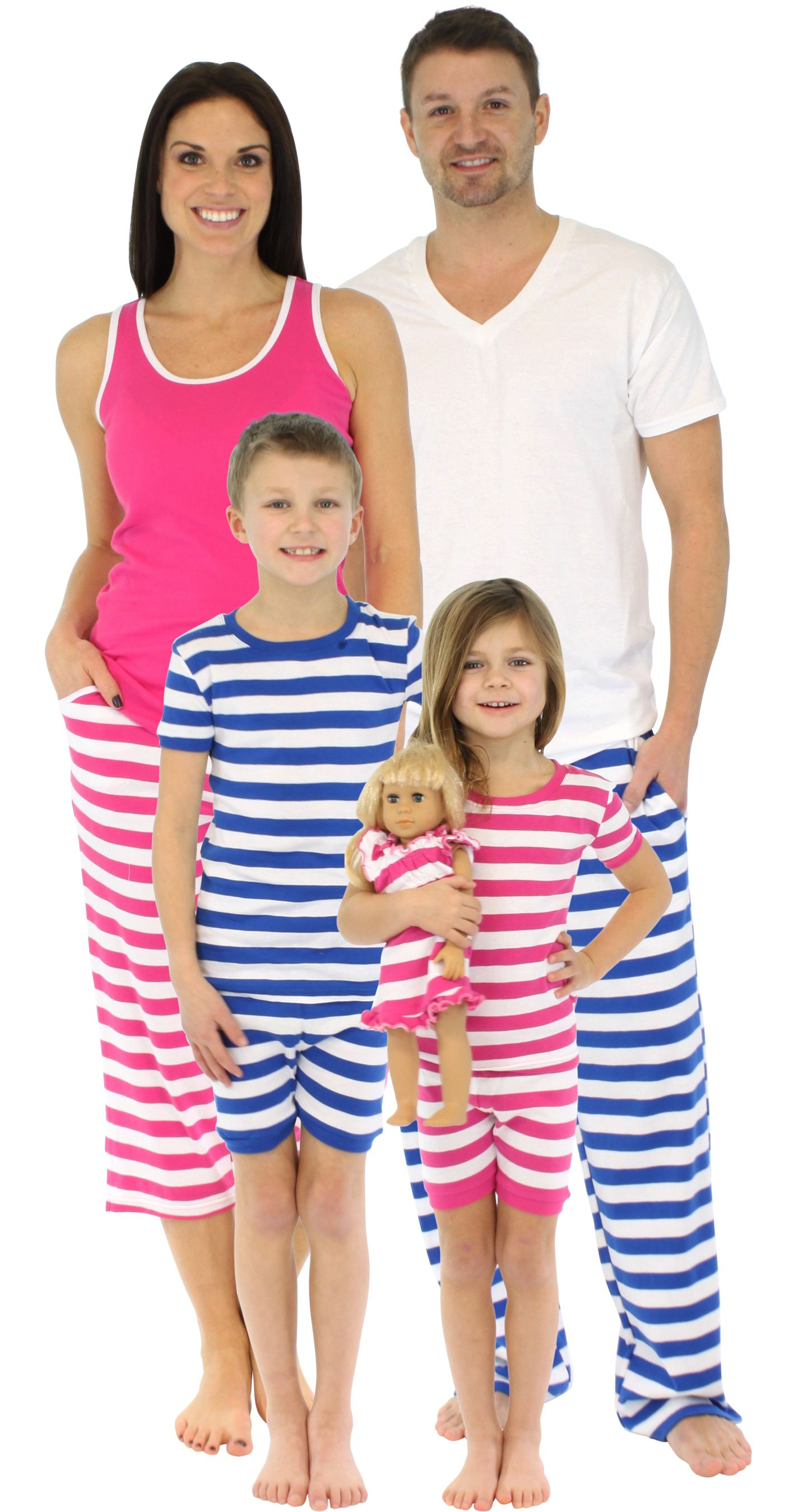 b3d75c8775d2 SleepytimePJs family matching striped pajamas are perfect for the entire  family. Available in women s