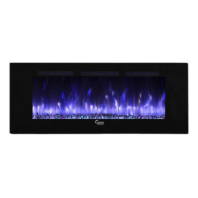 Caesar Fireplace Fuoco Adjustable Wall Mounted Electric Fireplace