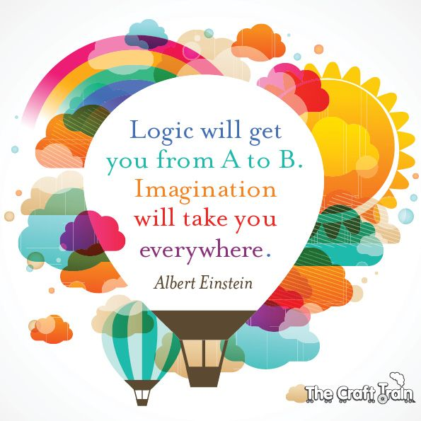 Image result for logic will get you from a to b. imagination will take you everywhere