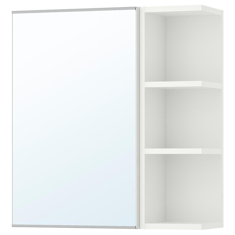 Lillangen Spiegelschrank 1 Tur 1 Abschlregal Weiss Ikea