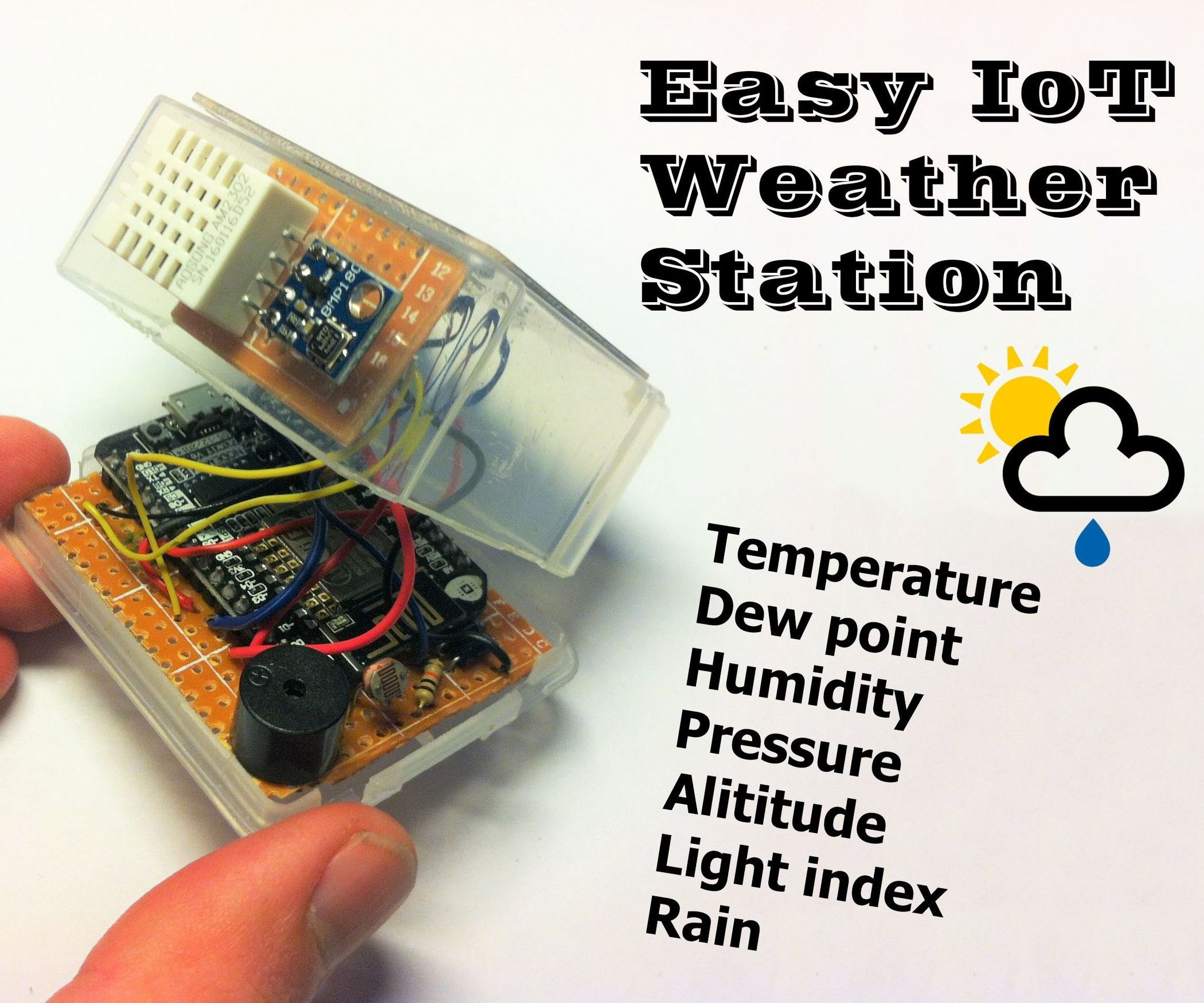 Easy iot weather station with multiple sensors weather arduino diy easy iot weather station with multiple sensors solutioingenieria Image collections