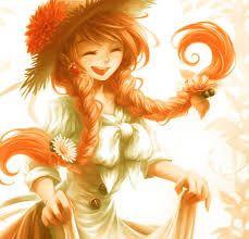 Картинки аниме девушек с рыжими волосами