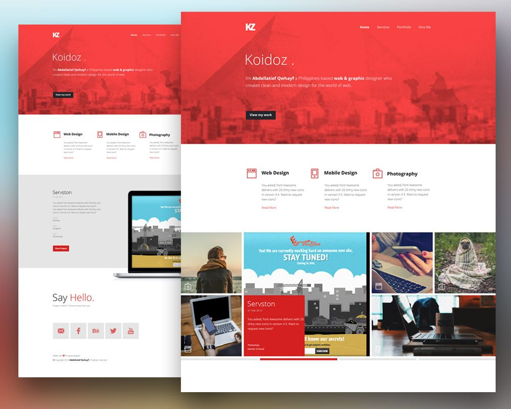 Complex view this free template ». Creative Personal Website Template Free Psd Personal Website Templates Free Website Templates Website Template