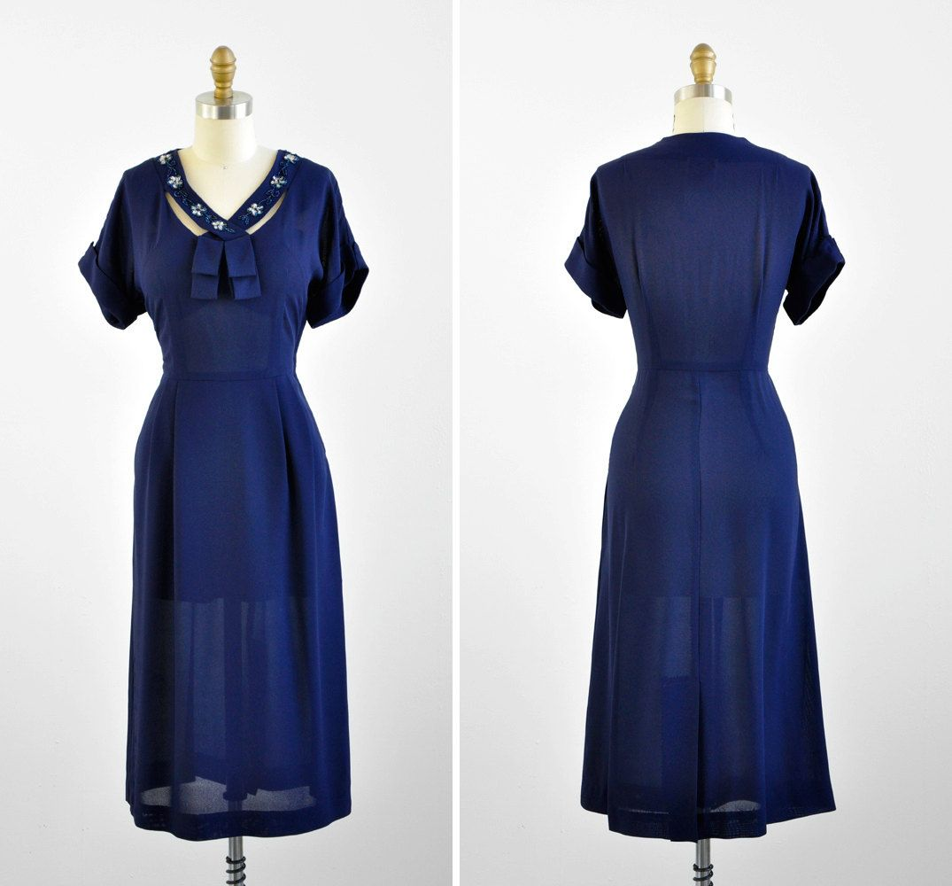 S dress s dress navy blue dress with beaded crossover
