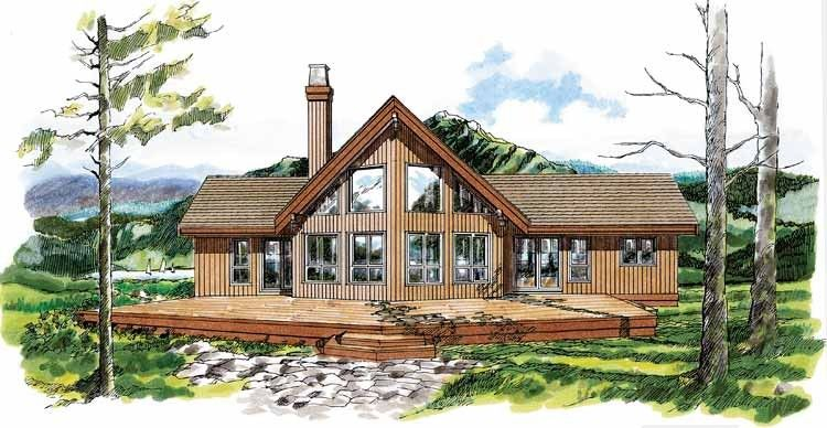 A-Frame House Plan with 1659 Square Feet and 3 Bedrooms ...