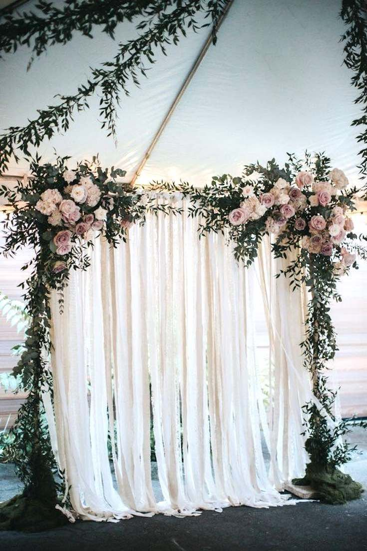 Diy decorations for wedding  boho wedding backdrop Wedding decoration ideas Wedding decorations