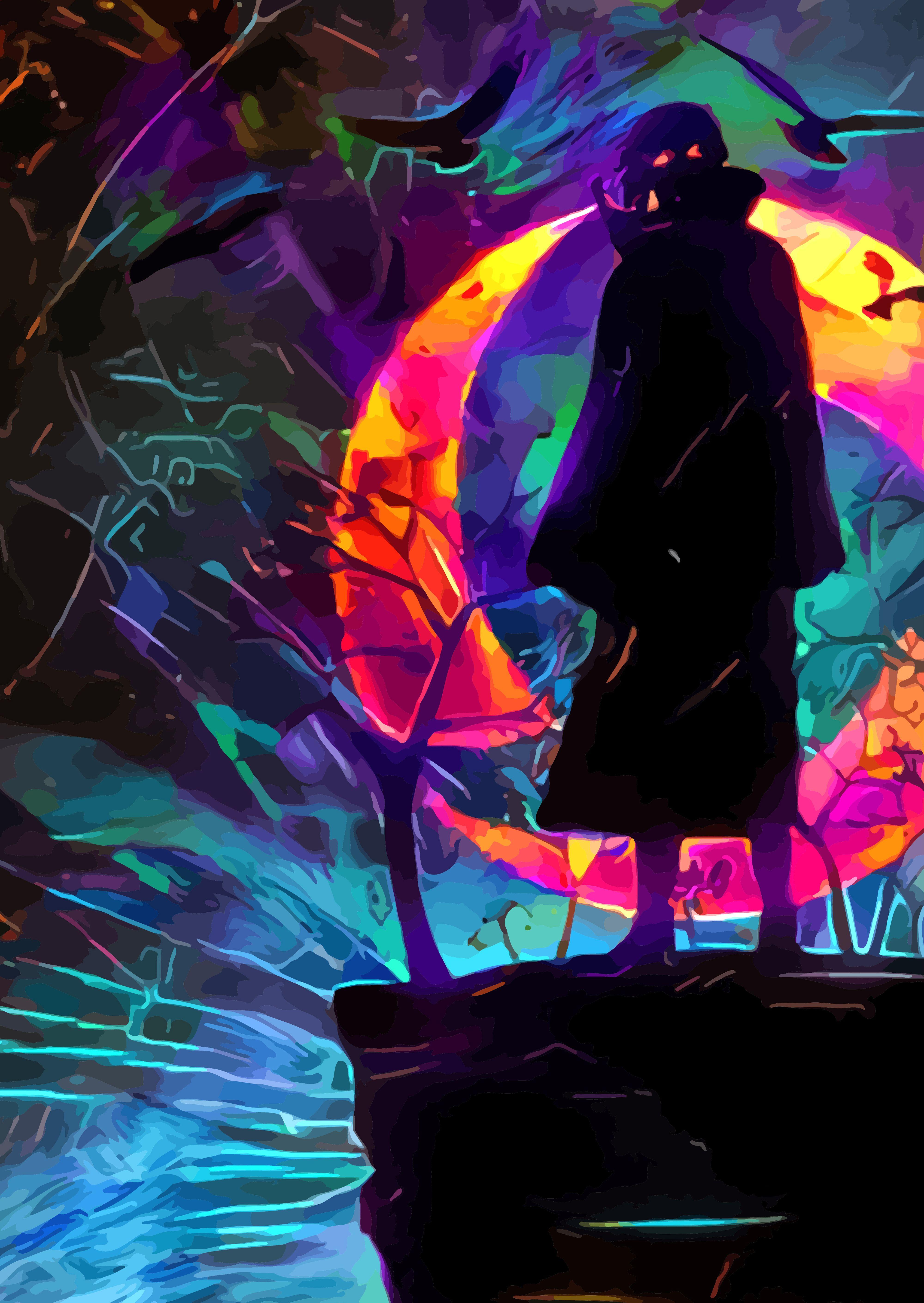 Neon Dawn | Displate thumbnail