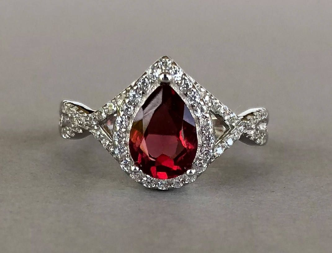 Solid Silver Red Garnet Real Gemstones Ring Handmade Jewelry Highest Selling Shops Gift for mom Birthday Bridesmaid Ring Real Gemstones Round Faceted Garnet Rings