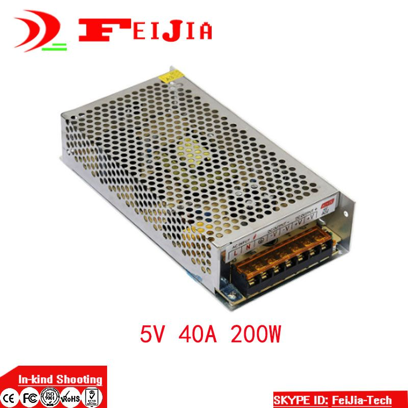 DC 5V 40A 200W Switching Power Supply Transformer for LED Strip ...