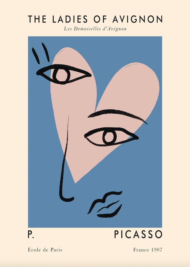 The Ladies of Avignon by Picasso Poster