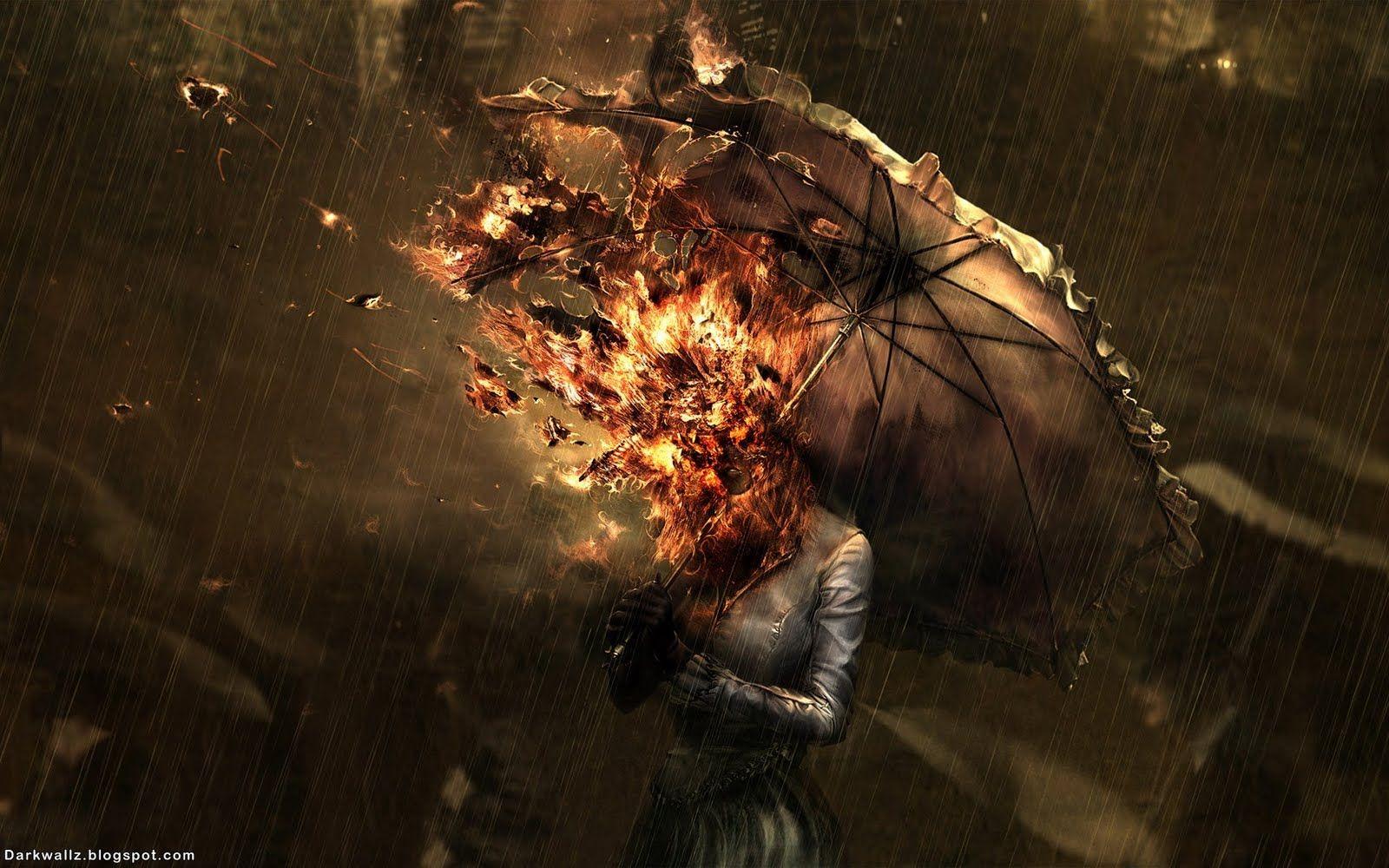 Burning in rain | Unusual / Dark / Steampunk / Goth ...