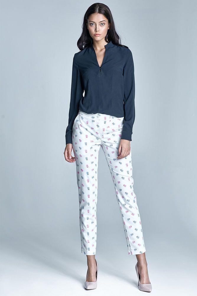 Pantalon femme ecru rose 7/8 Chic qualité SD23 NIFE taille 38 - neuf #