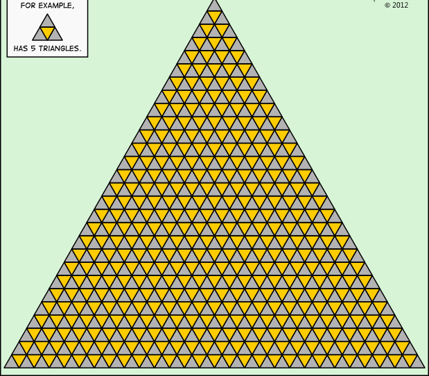 Not that easy!! How many triangles can you find? Canning