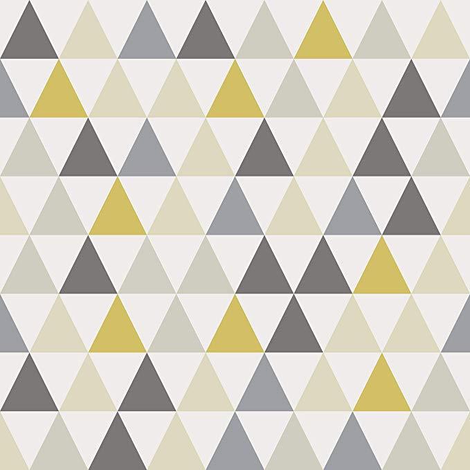 AMAZING WALL Yellow Triangle Peel and Stick Self Adhesive ...