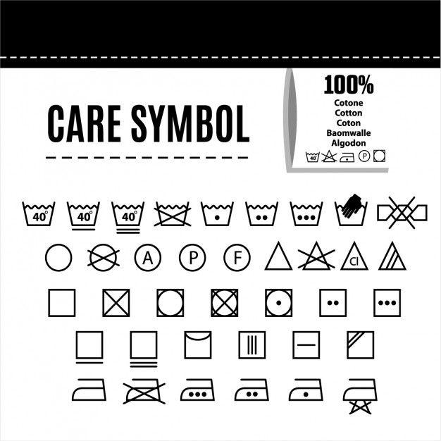 Download Clothes Care Symbols For Free Shablony Etiketok Pivnye