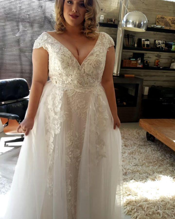 Brautkleid Spitze Große Größen Hochzeitskleid Für Mollige