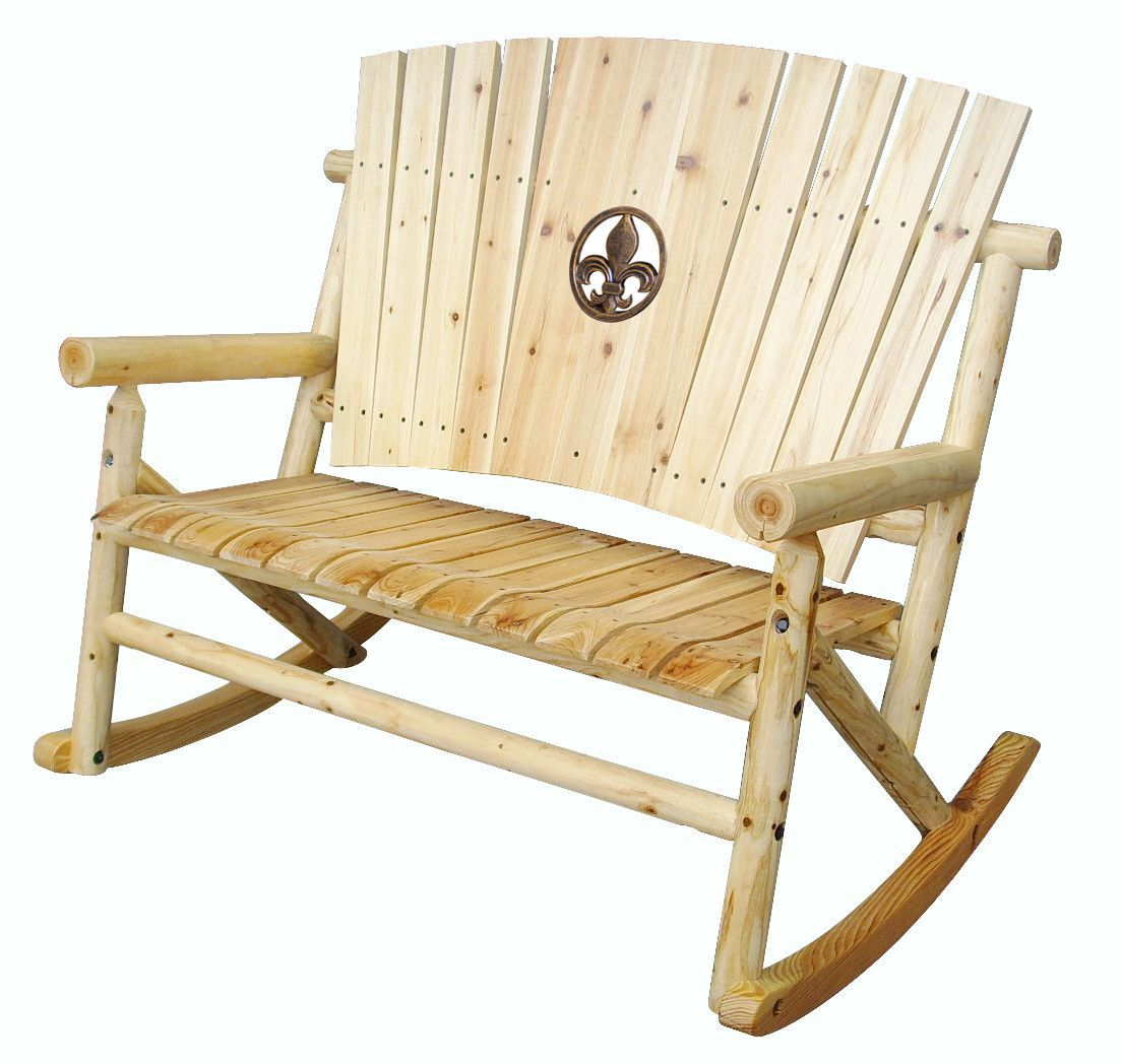 Aspen Fleur De Lis Medallion Double Rocking Chair I