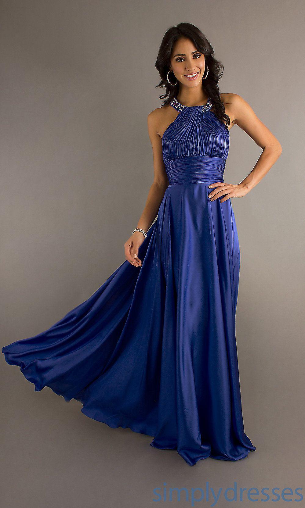 High neck long dress halter top evening dresses simply dresses