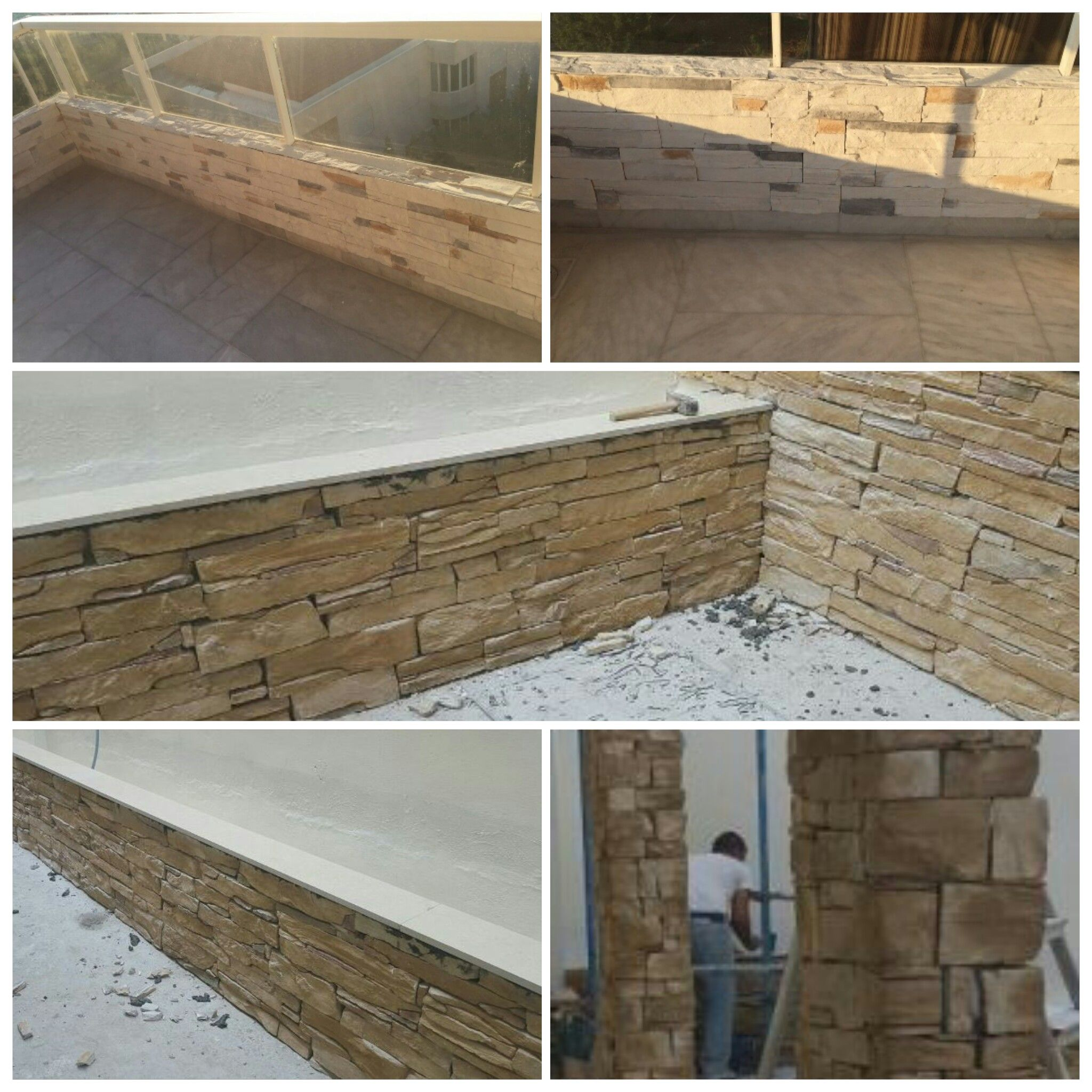 Balcony In Marble Wall : Projects with mathios stone collection outdoor balcony
