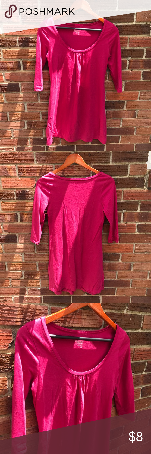 Hot pink color dress  Simple Old Navy Pink  Length Sleeved Dress  Colors Navy pink