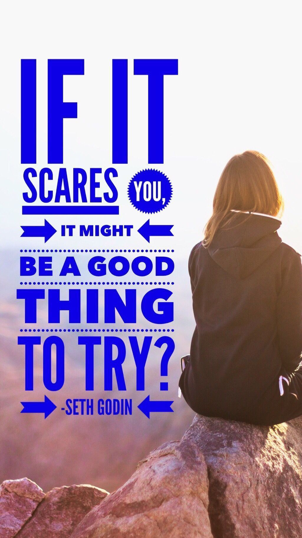 If it scares you it might be a good thing to try #quotesabouttakingchances Seth Godin Quote about taking chances and risks. #quotes #quotestoliveby #quotestoSOARby #quotestagram #quotesoftheday ##fourFORsoaring #quotesdaily #quoteoftheday #quotesaboutlife #quotestoremember #quotestagram #quotestoinspire #motivationalquotes #quoteslover #inspirational #growth #change #quotesabouttakingchances If it scares you it might be a good thing to try #quotesabouttakingchances Seth Godin Quote about taking #quotesabouttakingchances
