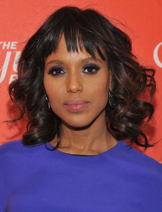 Amp up your locks with thick voluminous curls, like Kerry Washington's.