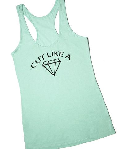 Cut Like a Diamond Workout Tank, Small, Clothing -- Cents Of Style - 1