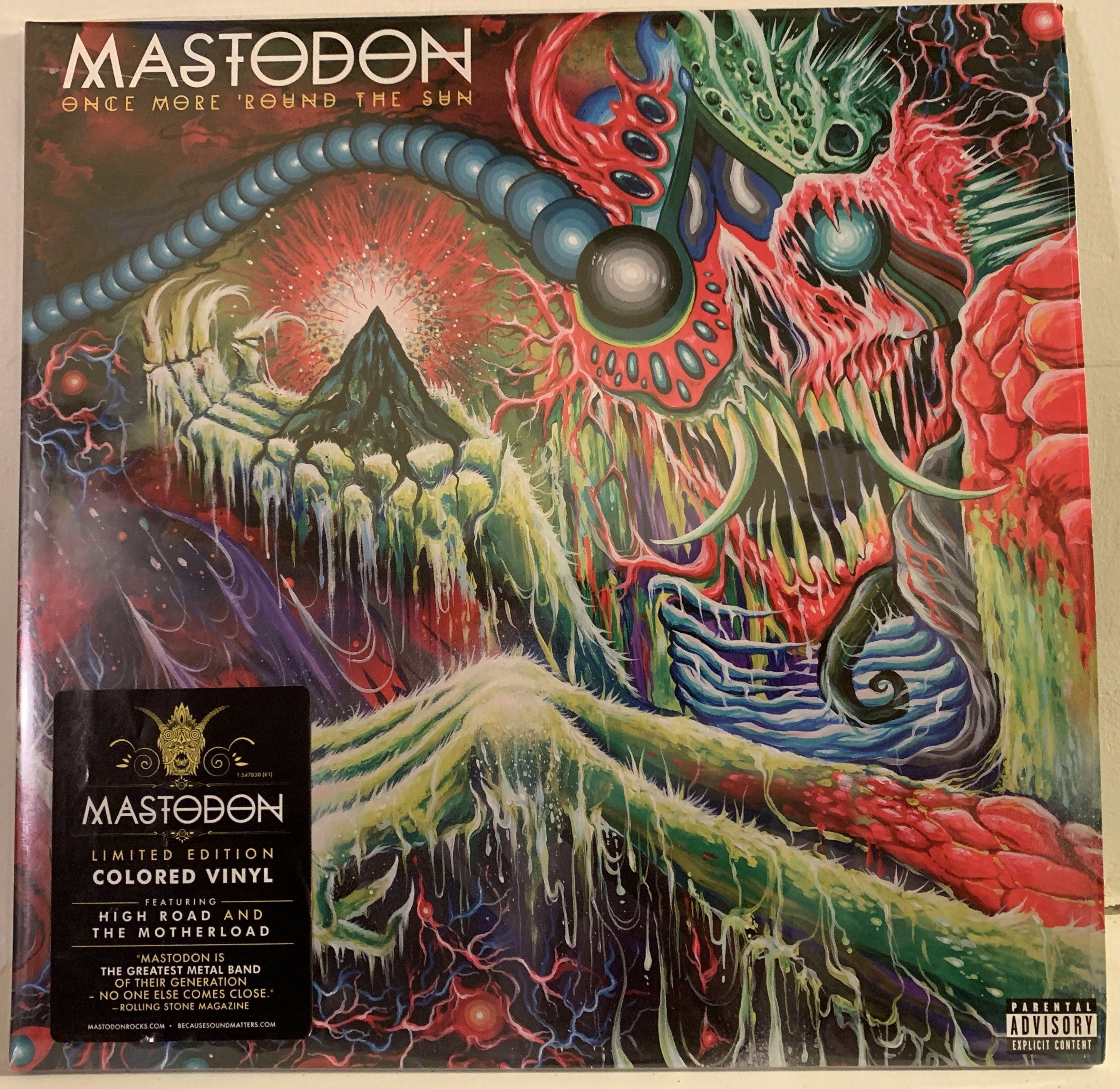 Mastodon Once More Round The Sun 2x Lp Colored Vinyl Gatefold Thrash Metal Iq Vinyl Mastodon Thrash Metal