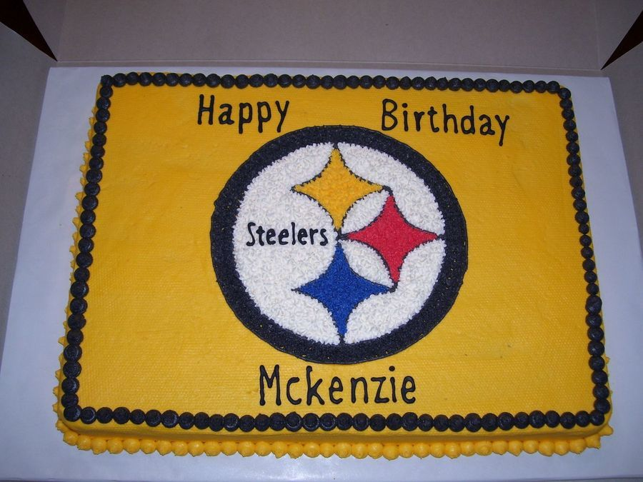 Steelers Sheet Cake on Cake Central Practicing Pinterest