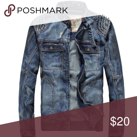 COMING SOON Jean jacket with spikes Jackets & Coats | My Posh ...