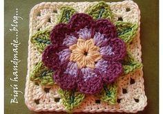 TUTORIAL: Waterflower granny square.
