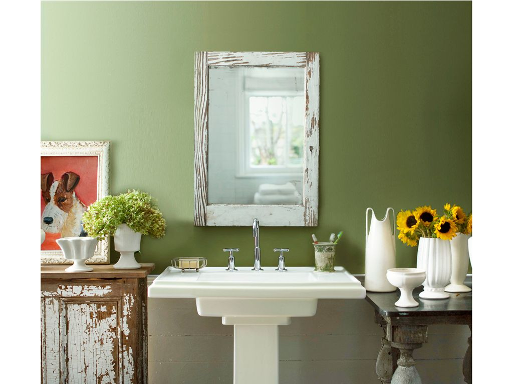 Benjamin moore green bathroom eucalyptus leaf 2144 20 for Green bathroom paint colors