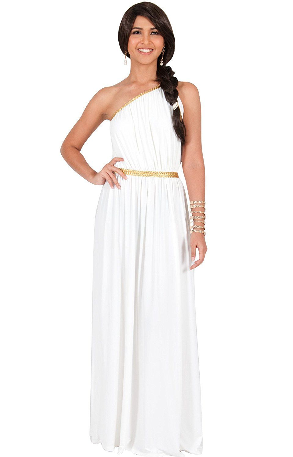 d32ad014b1df KOH KOH Womens Long One Shoulder Sexy Bridesmaid Summer Evening Gown Maxi  Dress     Unbelievable item right here!   Dresses