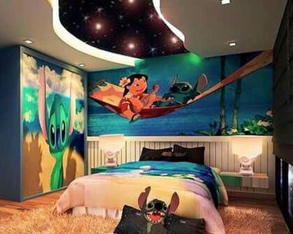 44 Charming Disney Kids Room Design Ideas #disneyrooms