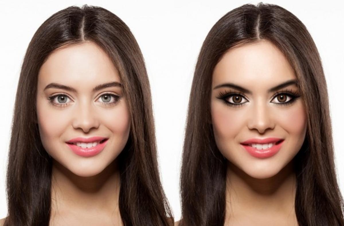 как лицо на фото поставить свое максимальная разница