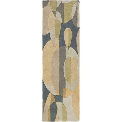 Surya Forum Hand-Tufted Blue/Green Area Rug Rug Size: